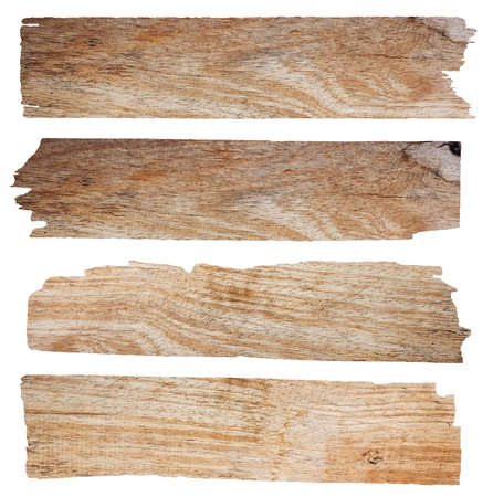 Old Wood plank, isolated on white background  Save Paths For design work   Stock Photo - 14684345