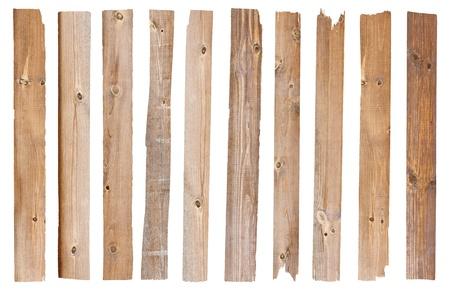 Tablón de madera, aislado en fondo blanco Guardar caminos para el trabajo de diseño