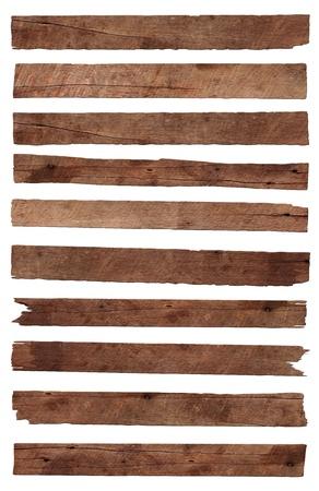 �board: Tabl�n de madera vieja, aislada sobre fondo blanco Guardar caminos para el trabajo de dise�o Foto de archivo