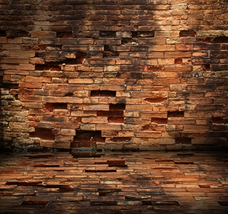 old brick wall room  photo
