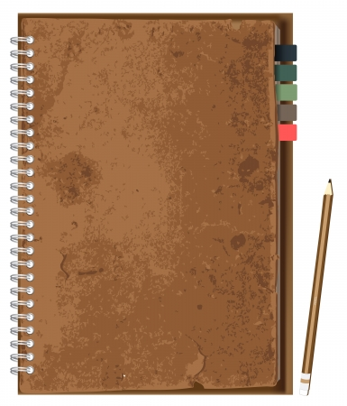 old notebook: Vector paper notebook design