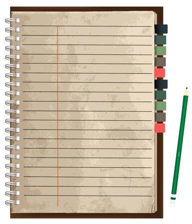viejo papel marrón ilustración notebook