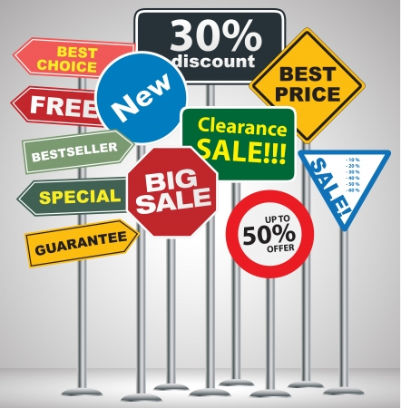 discount signpost design  Vector