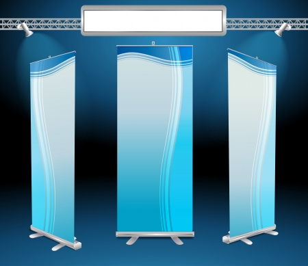 roll up banner display Vector