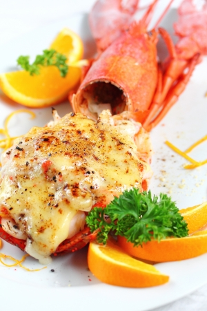 lobster: Lobster thermidor salad  Stock Photo