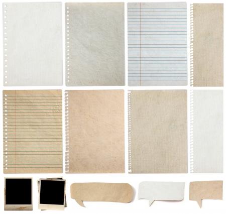 textura: Papel texturas fundo, isolado no fundo branco Banco de Imagens