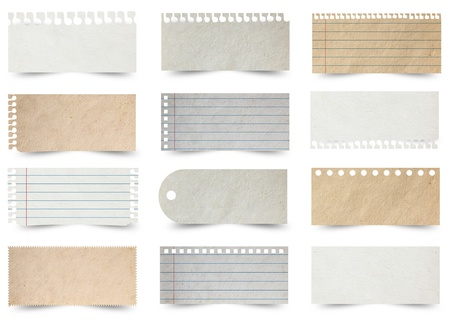 Collection of various note papers Stock Photo - 15229357