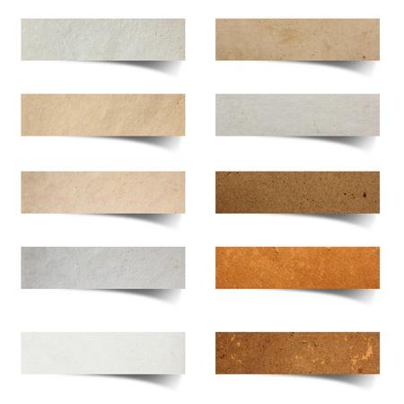 paper craft: palillo del arte de papel en el fondo blanco