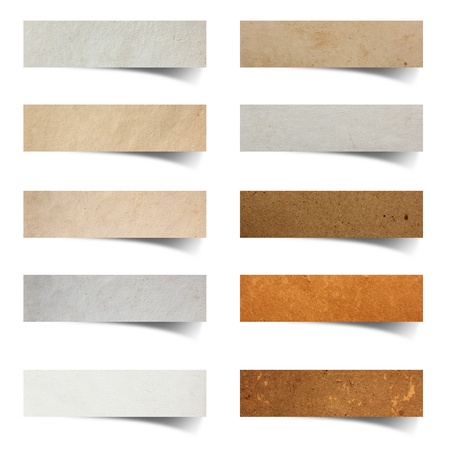 recycled paper: paper craft stick on white background