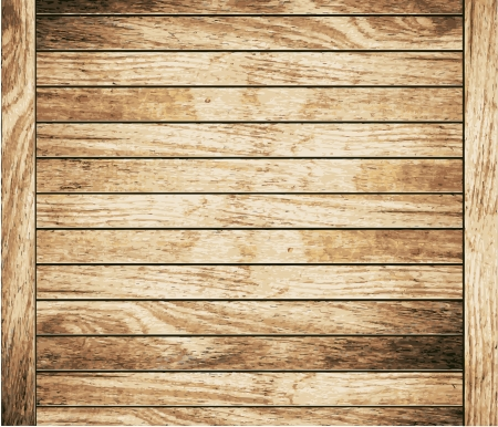 Wood plank brown texture background, illustration  Vector