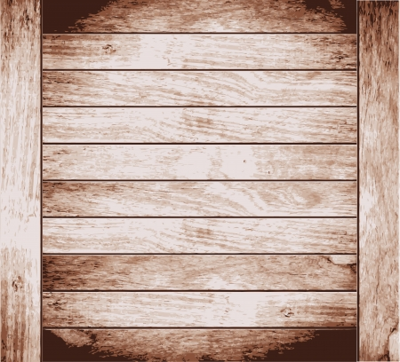 weathered wood: Wood plank brown texture background, illustration  Illustration