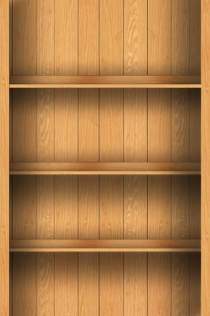 wood shelf design background Stock Photo - 16145472