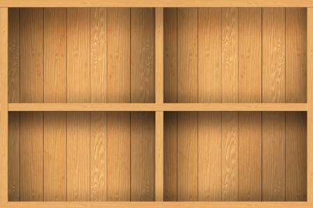 wood shelf design background Stock Photo - 16145476