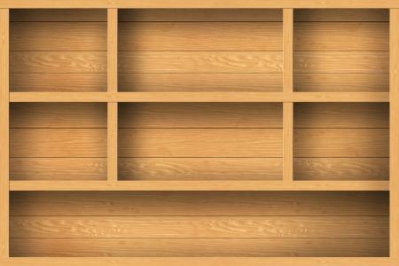 wood shelf: estante de madera de dise�o de fondo