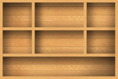 wood shelf design background Stock Photo - 16145420