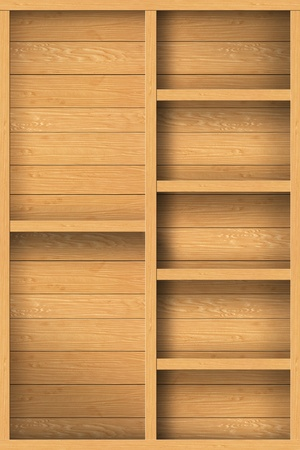wood shelf design background Stock Photo - 16145457
