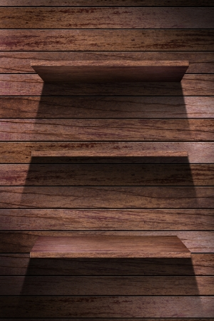 wood shelf design background Stock Photo - 16145471