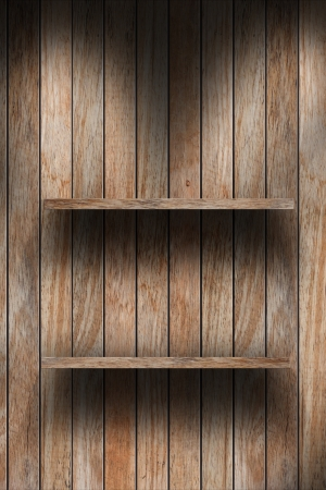 wood shelf design background Stock Photo - 16145473