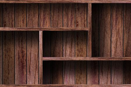 wooden furniture: Empty wood shelf  grunge industrial interior Uneven diffuse lighting version  Design component  Stock Photo
