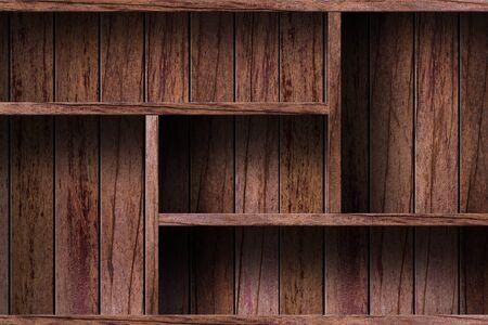 muebles de madera: Estante vacío madera grunge industrial interior desigual iluminación difusa versión de diseño de componentes