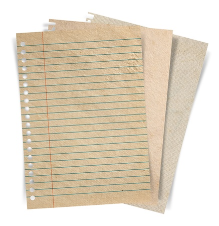 book shop: sheet of paper stack isolated on white background
