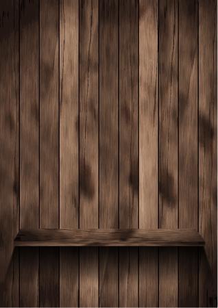 Wood shelf design Stock Vector - 16251414