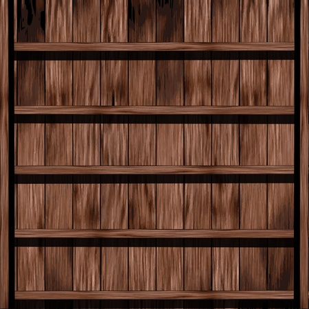Wood shelf design  Vector