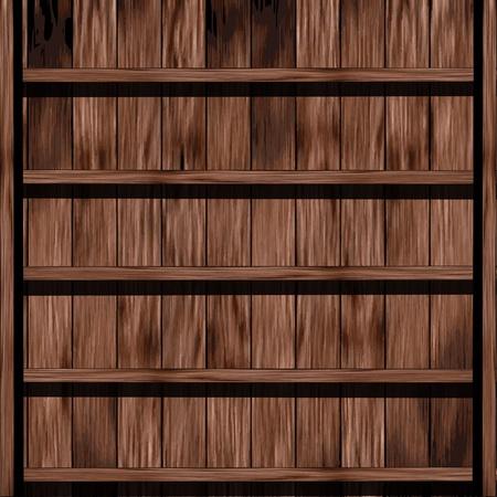 Wood shelf design Stock Vector - 16251417