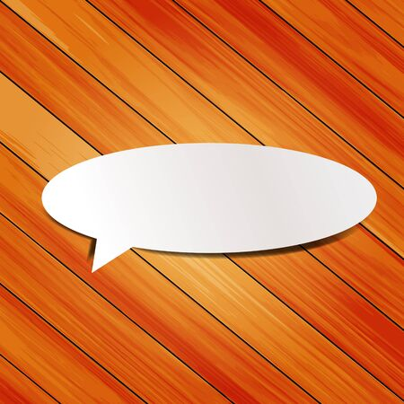 wooden background with speech bubbles paper stick  Stock Vector - 16251412