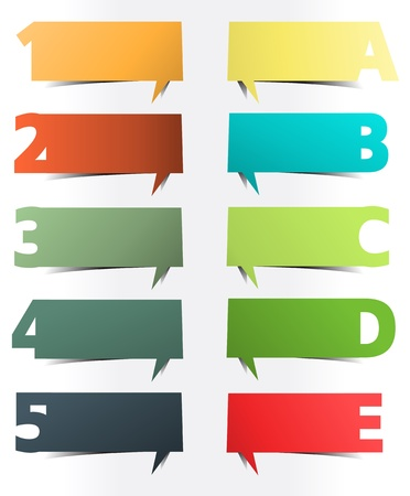 Colorful presentations with letters and numbers Stock Vector - 16251419