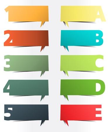 Presentaciones a todo color con letras y números