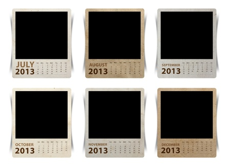 Calendar 2013 on blank picture isolated white background photo