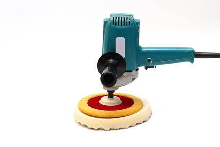 buffing:  Machine polishing for car care,