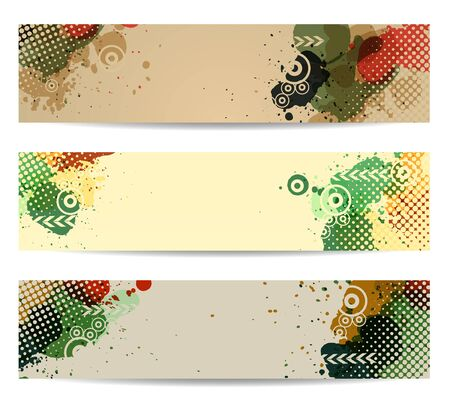 Banners with colorful watercolor paint splash, Vector template design  Stock Vector - 16713933