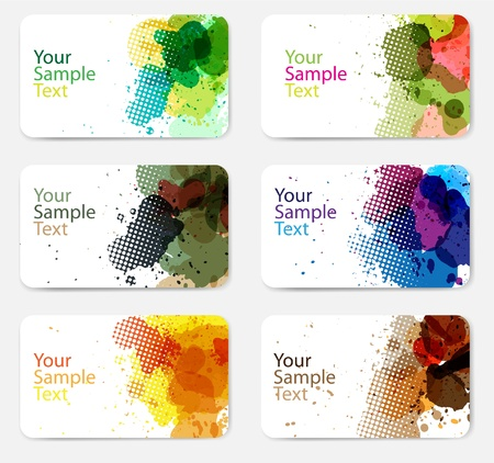 Collection of colorful abstract watercolor banners  Vector Stock Vector - 16740755