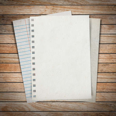 stack of paper on wood textures background  Stock Photo - 16850795