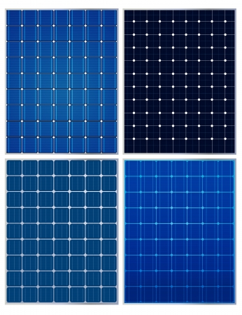 Solar panels,  collections Vector