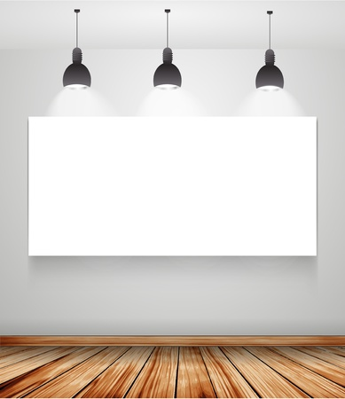 poster in room with ceiling lamp Stock Vector - 17116008