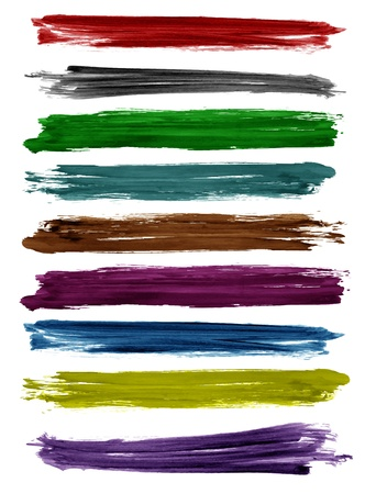 stroke: Colorful watercolor brush strokes, Vector design