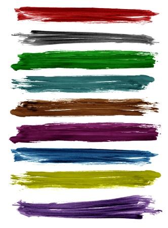 maleza: Coloridos trazos de pincel de acuarela, dise�o vectorial
