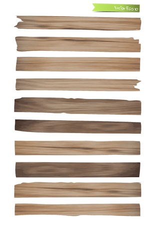 Old Wood plank vector design Stock Vector - 17177514