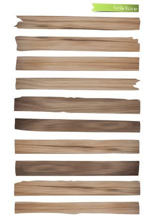 Old Wood plank vector design Stock Vector - 17177514