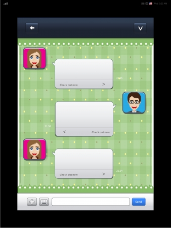 Mobile chat: message boxes for your text Stock Vector - 17177522