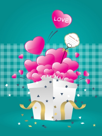 Open box with heart vector illustration. Eps 10.  Stock Vector - 17177519