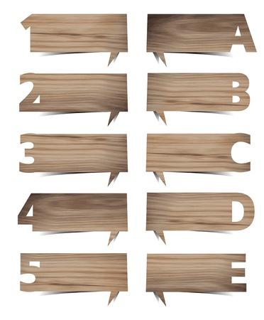 Vecteur présentations bois texture de fond avec des lettres et des chiffres