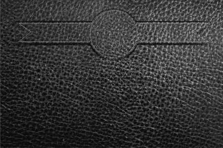 suture: Black Leather texture background, Vector illustration
