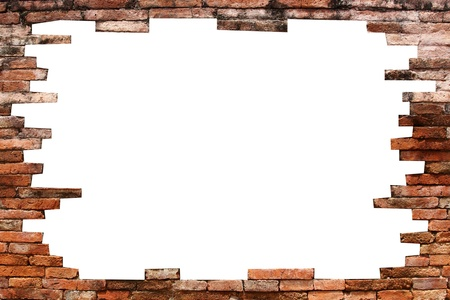 hole in the wall: porous wall for background  Stock Photo