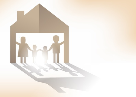 koncepcji rodziny papieru, ilustracji wektorowych