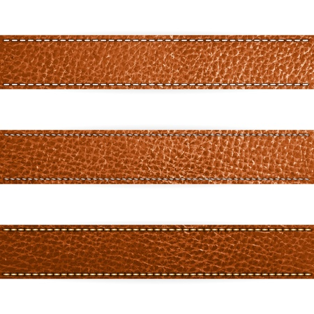 Vector Leather brown color Design template Vector