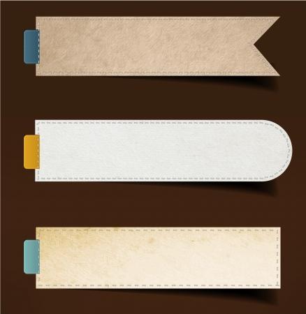 Set aus Papier, Aufkleber, Etiketten, Tags. Vector template